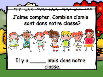 September Morning Messages/Messages du Matin - French Kindergarten
