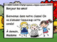 September Morning Messages/Messages du Matin - French Kindergarten