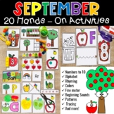 September Morning Tubs Hands On Centers Math and Literacy