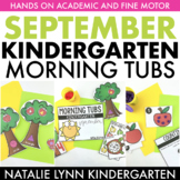 September Morning Tubs for Kindergarten