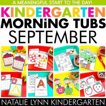 September Morning Tubs for Kindergarten