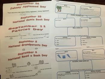 Celebrating September- Daily Stories