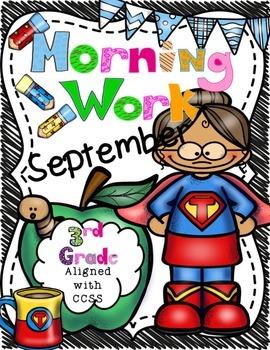 September Morning Work-CCSS Aligned