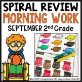 September Spiral Review Morning Work 2nd Grade