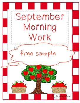 September Morning Work-Critical Thinking FREE SAMPLE