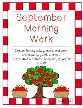 September Morning Work- Critical Thinking and Problem Solving