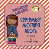 September Morning Work: Fourth Grade