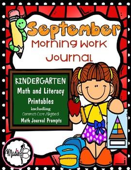 September Morning Work Journal for Kindergarten