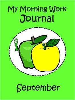Morning Work Journal:  September