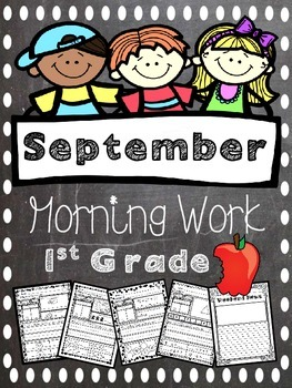 September Morning Work - Math and Literacy Review