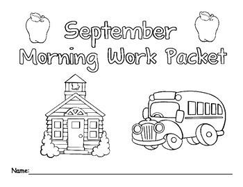 September Morning Work Packet