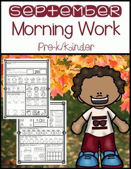 September Morning Work Pre-K/K