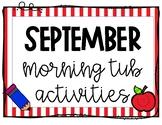 September Morning Work Tubs