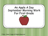 September Morning Work for First Grade