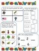 September Morning Work for Kindergarten