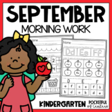 September Morning Work for Kindergarten | September Worksheets