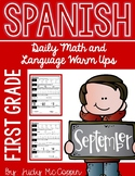 September Morning Work in Spanish for First Grade