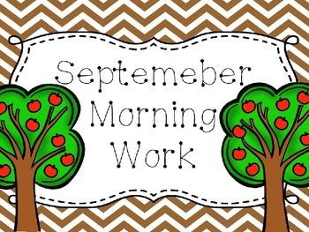 September Morning Work.....EDITABLE!!!!