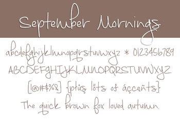 September Mornings Font for Commercial Use