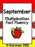 September Multiplication Fluency Practice