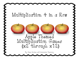 Apple Themed  Multiplication Games {4 in a Row, x 2 through x12}
