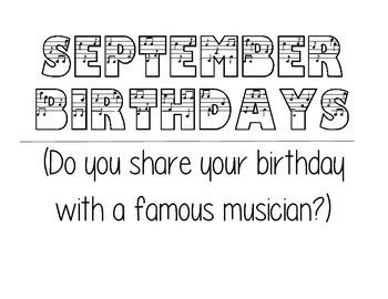 September Musician Birthdays