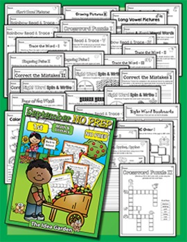 September NO PREP Back To School - Math & Literacy (First)