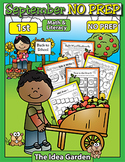 September NO PREP Back To School - Math & Literacy (First)
