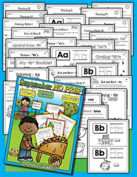 September NO PREP Back To School - Math & Literacy (Pre-K)