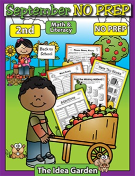 September NO PREP Back To School - Math & Literacy (Second)