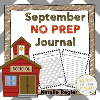 September NO PREP Journal