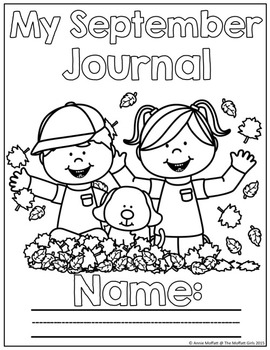 September NO PREP Journal Prompts for Beginning Writers