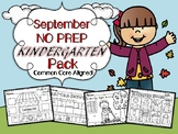 September NO PREP Kindergarten Language Arts Pack - Common