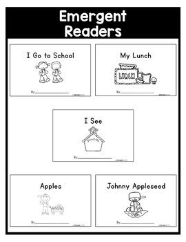 September NO PREP Kindergarten Packet-OVER 100 PAGES!