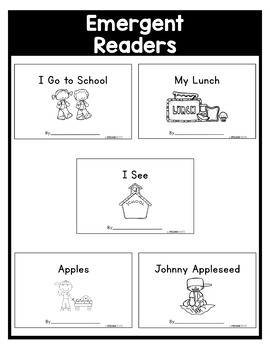September NO PREP Kindergarten Packet-OVER 100 PAGES!