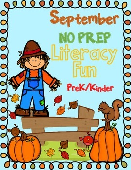 NO Jitterz September NO PREP Kindergarten Activities