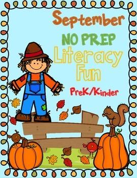NO Jitterz September NO PREP Kindergarten Activities