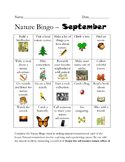 September Nature Bingo