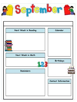 september newsletter template editable teaching resources teachers