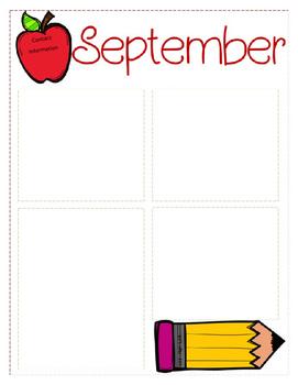 september newsletter template by krista s kindergarten tpt