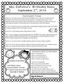 September Newsletter Template {Editable}