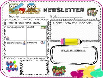 September Newsletter in English and Spanish
