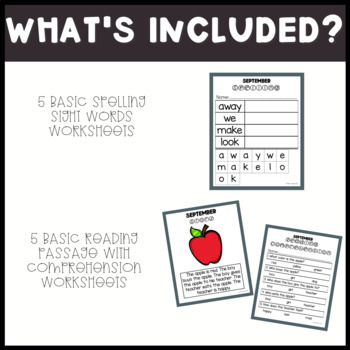 ELA Basic Skills Unit for Special Education: September Edition
