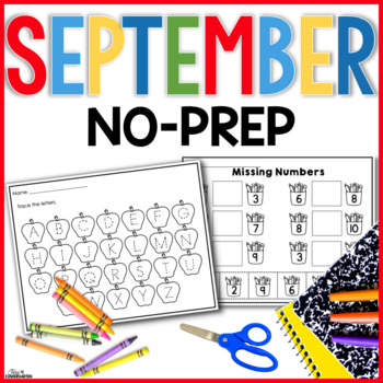 September No Prep Just Print
