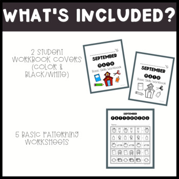 September No Prep Math Basic Skills Unit for Special Ed Classrooms