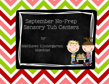 September No Prep Sensory Tub Centers