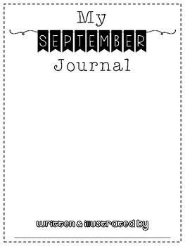 September No Prep Writing Journal for Elementary Writers