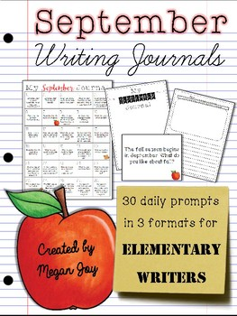 September Bell Ringer Draw & Write Journal