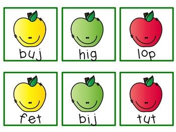 September Nonsense Word Fluency Rotten Apples Game