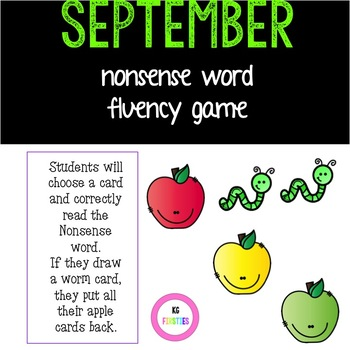 September Nonsense Word Fluency Rotten Apples Game